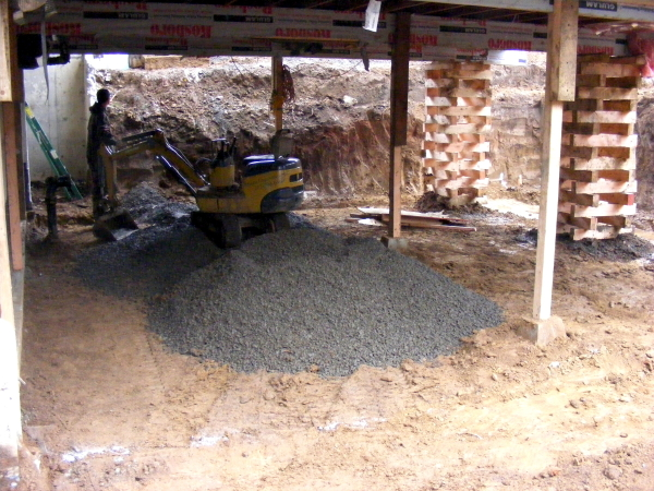 home for a basement addition on this job site we also did other dig
